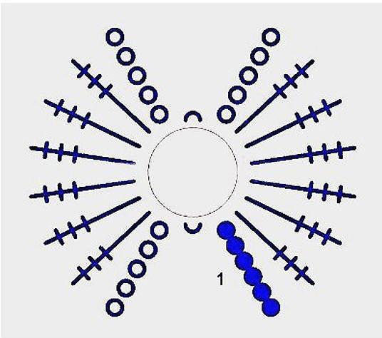 Вязание крючком бантик схема