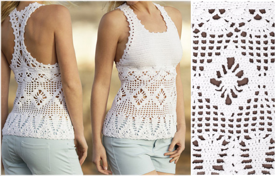 Crochet Blouse Free Pattern - Choose your yarn and follow the ...